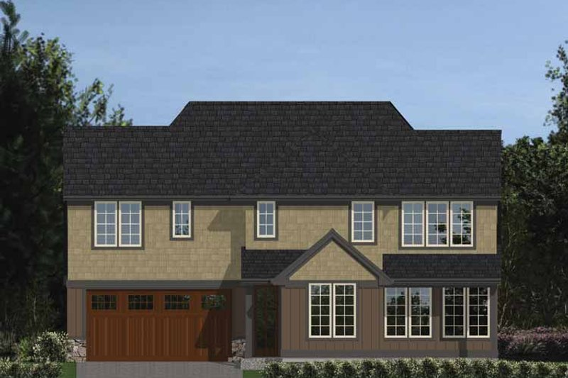Tudor Exterior - Rear Elevation Plan #48-871 - Houseplans.com