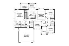 Ranch Floor Plan - Main Floor Plan Plan #1010-74