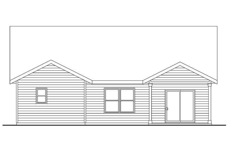 Craftsman Exterior - Rear Elevation Plan #124-693 - Houseplans.com