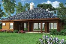 House Plan Design - Ranch Exterior - Rear Elevation Plan #417-800