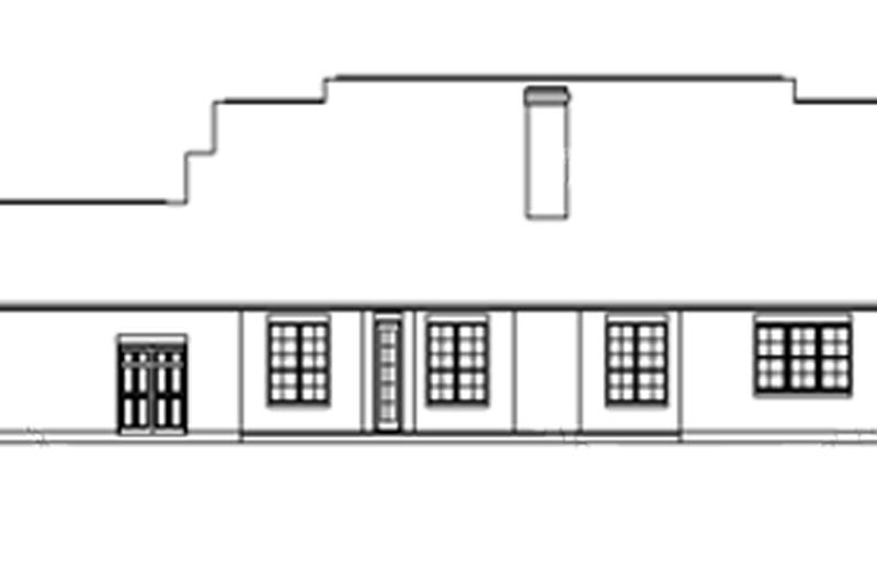 Classical Exterior - Rear Elevation Plan #325-300 - Houseplans.com