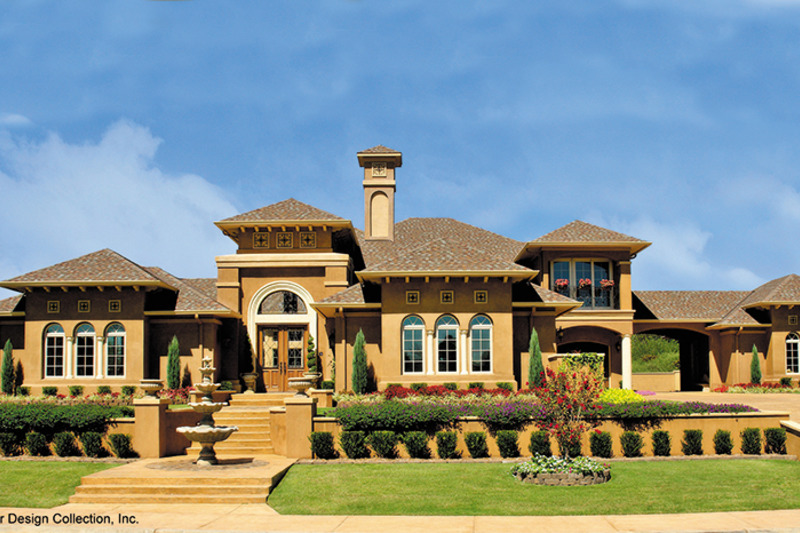 Mediterranean style house plan 4 beds 3 5 baths 4151 sq for Mediterranean elevation