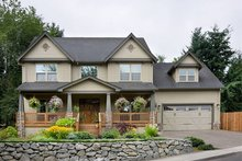 House Plan Design - Traditional style plan 48-105, elevation