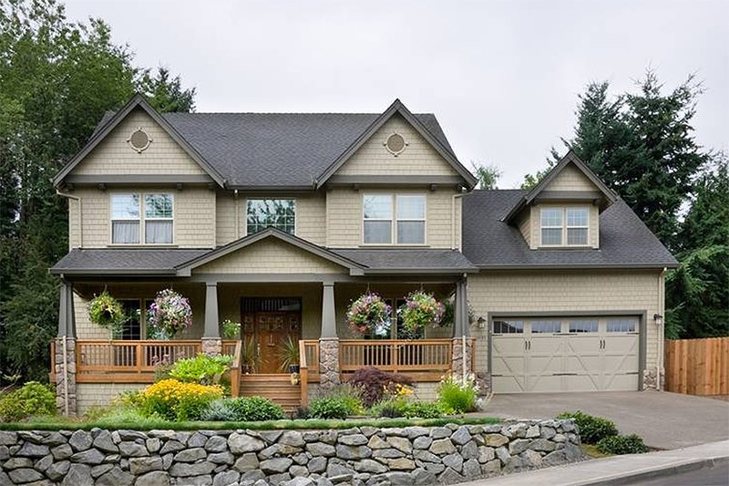 House Design - Traditional style plan 48-105, elevation