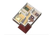 European Style House Plan - 3 Beds 1 Baths 1354 Sq/Ft Plan #25-4556 Floor Plan - Upper Floor Plan