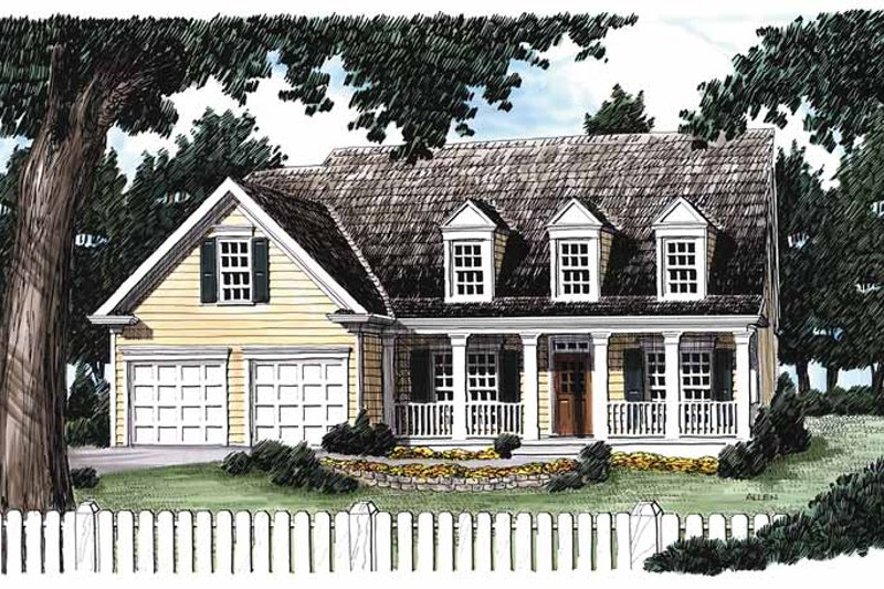 Country Exterior - Front Elevation Plan #927-246
