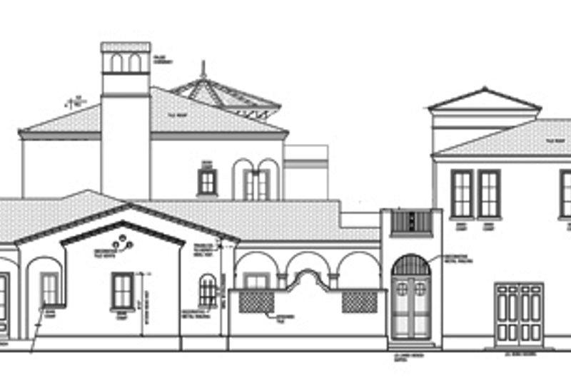 Mediterranean Exterior - Other Elevation Plan #1058-25 - Houseplans.com