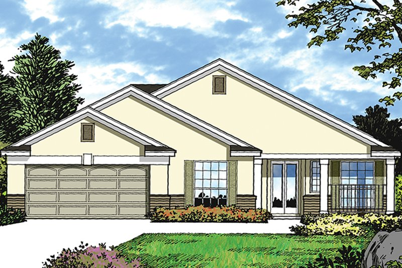 Mediterranean Exterior - Front Elevation Plan #417-851