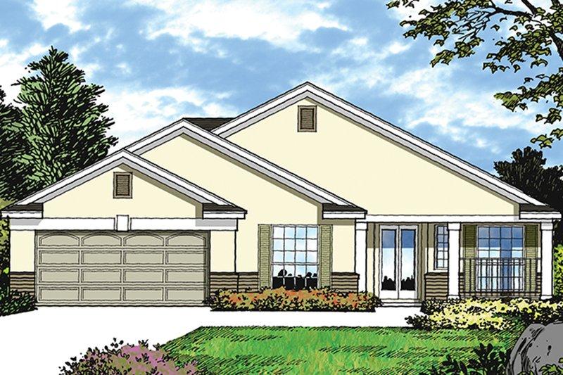 House Plan Design - Mediterranean Exterior - Front Elevation Plan #417-851