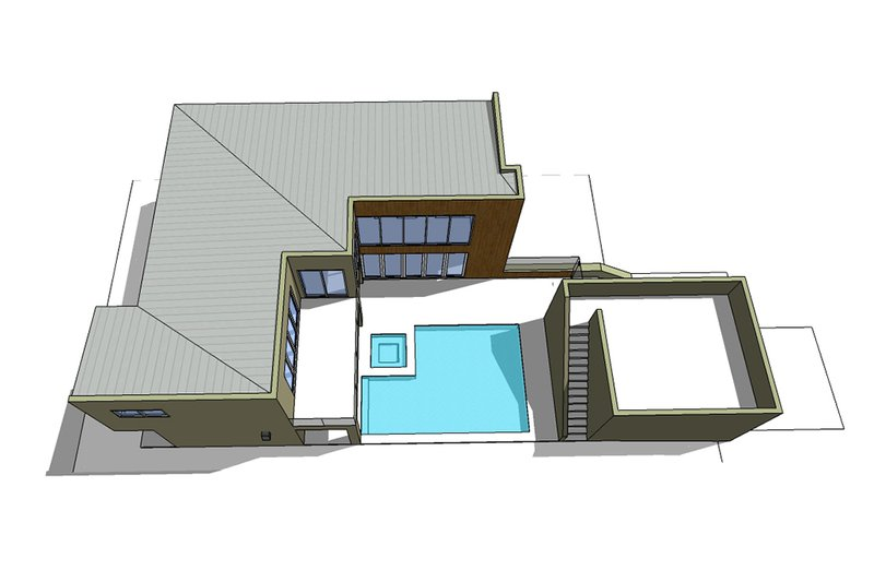 Roof view - 2600 square foot Modern home
