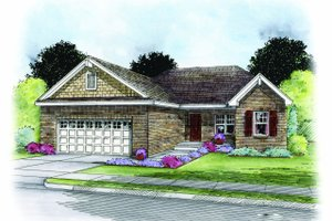 Home Plan - Traditional Exterior - Front Elevation Plan #20-2183