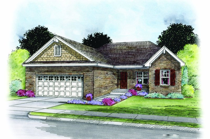 Traditional Exterior - Front Elevation Plan #20-2183 - Houseplans.com