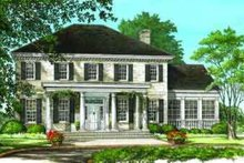 Southern Exterior - Front Elevation Plan #137-197