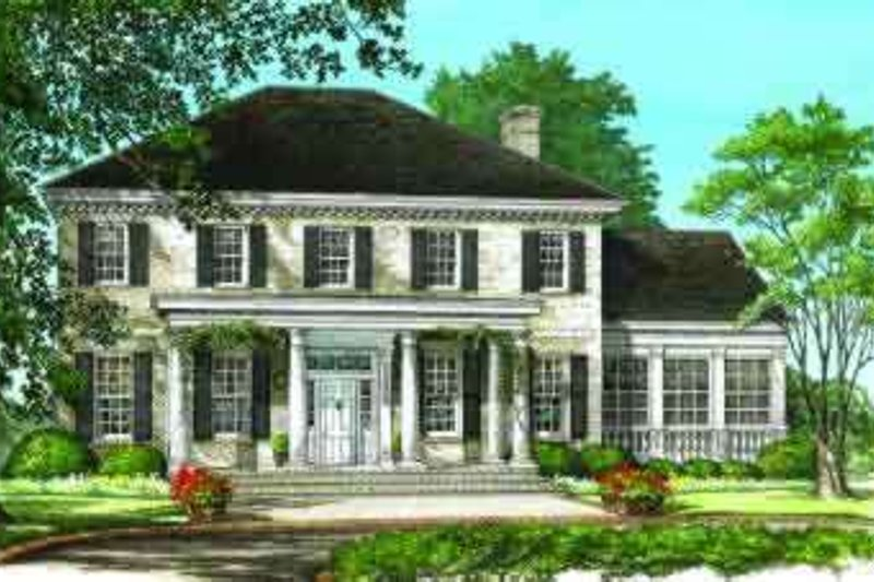 Southern Exterior - Front Elevation Plan #137-197 - Houseplans.com