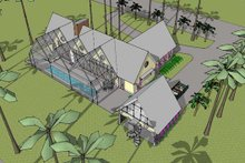 Modern Exterior - Other Elevation Plan #481-2