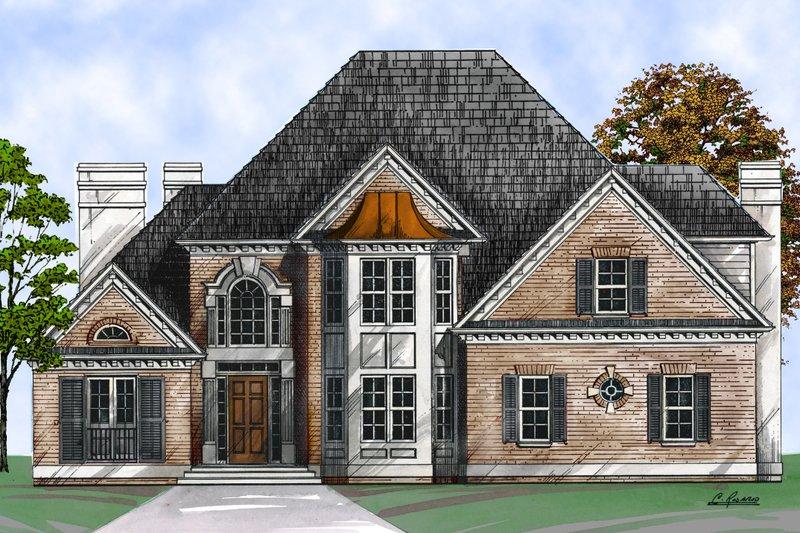Dream House Plan - European Exterior - Front Elevation Plan #119-127