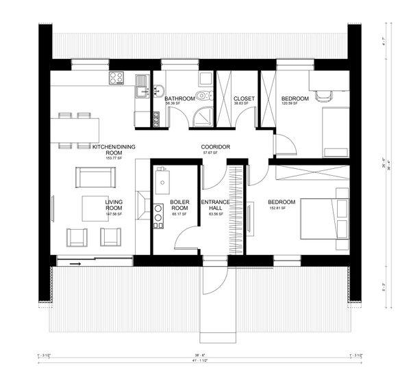 Contemporary Floor Plan - Main Floor Plan Plan #906-9