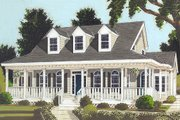 Country Style House Plan - 3 Beds 2.5 Baths 2252 Sq/Ft Plan #3-183 Exterior - Front Elevation