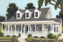 Home Plan - Country style home, farmhouse elevation