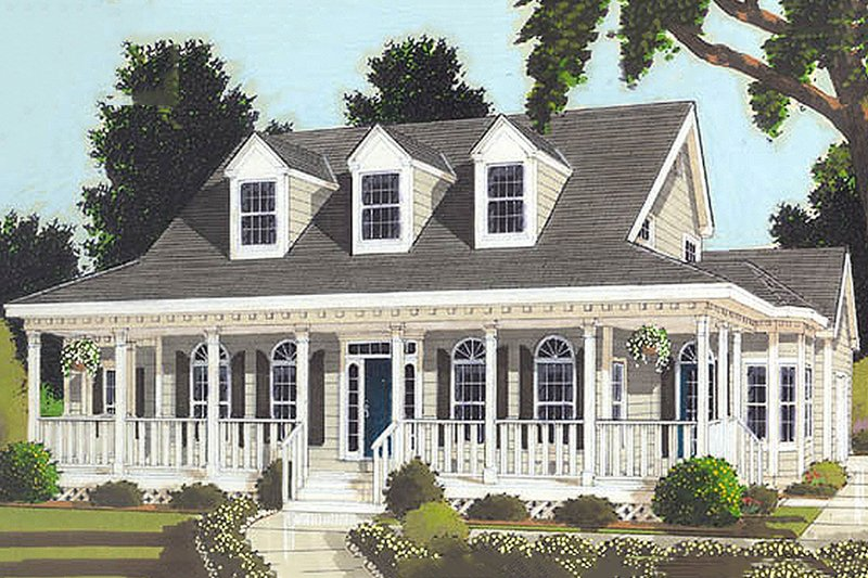 Dream House Plan - Country style home, farmhouse elevation