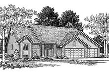 Traditional Exterior - Front Elevation Plan #70-211