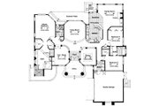 European Style House Plan - 3 Beds 3 Baths 2636 Sq/Ft Plan #417-300 Floor Plan - Main Floor Plan