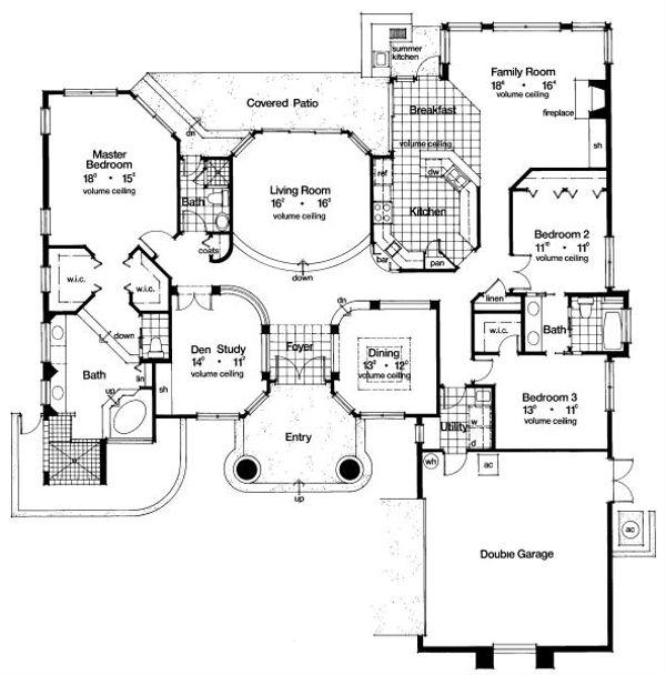 European Floor Plan - Main Floor Plan Plan #417-300