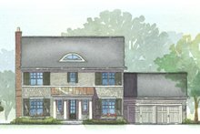 Colonial Exterior - Front Elevation Plan #901-22