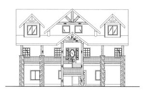 Craftsman Exterior - Front Elevation Plan #117-702