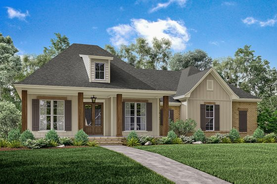 Home Plan - European Exterior - Front Elevation Plan #430-144