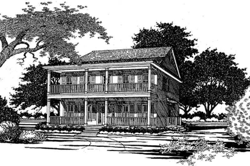 Classical Exterior - Front Elevation Plan #472-160