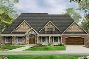 Craftsman Style House Plan - 3 Beds 2 Baths 3278 Sq/Ft Plan #1057-6 Exterior - Front Elevation