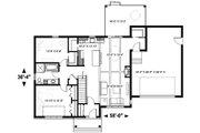 Ranch Style House Plan - 2 Beds 1 Baths 1240 Sq/Ft Plan #23-2665 Floor Plan - Main Floor Plan