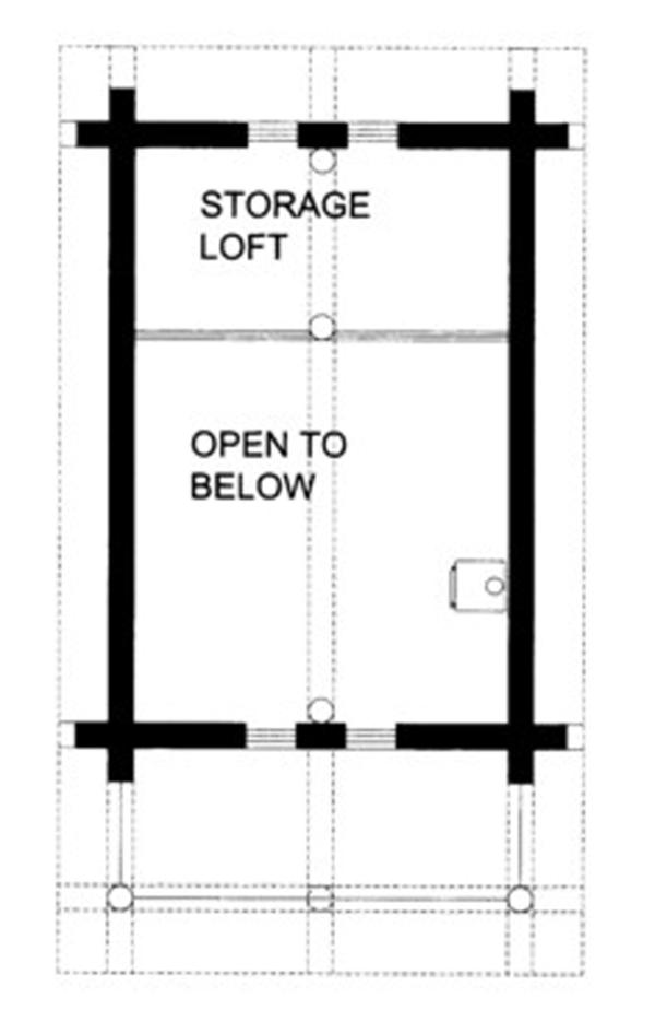 Log Floor Plan - Upper Floor Plan Plan #117-828