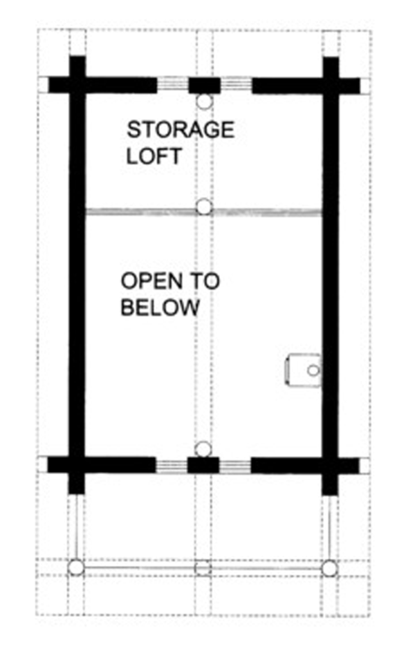 House Plan Design - Log Floor Plan - Upper Floor Plan #117-828