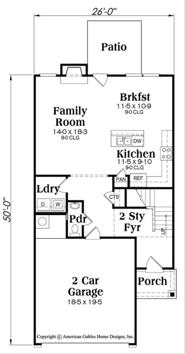 Traditional Floor Plan - Main Floor Plan Plan #419-280