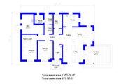 Bungalow Style House Plan - 2 Beds 1 Baths 1450 Sq/Ft Plan #549-28 Floor Plan - Main Floor Plan