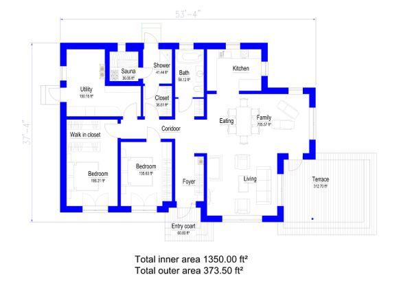 Bungalow Floor Plan - Main Floor Plan Plan #549-28