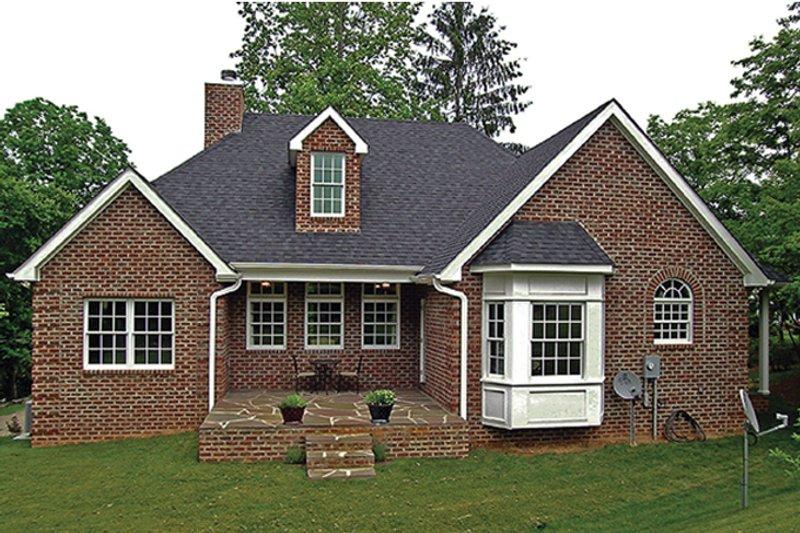 Country Exterior - Rear Elevation Plan #314-284 - Houseplans.com