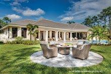 House Plan Design - Mediterranean Exterior - Rear Elevation Plan #930-473