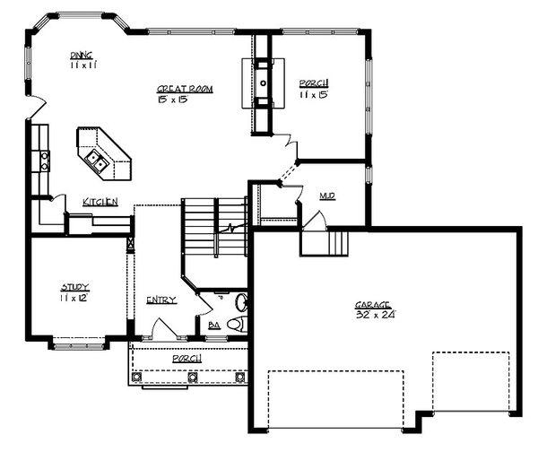 Traditional Floor Plan - Main Floor Plan Plan #320-498