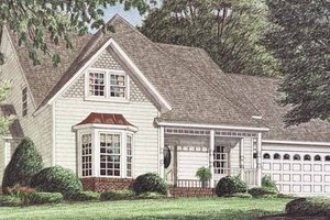 Architectural House Design - Victorian Exterior - Front Elevation Plan #34-246
