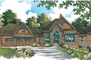 European Style House Plan - 5 Beds 5.5 Baths 4284 Sq/Ft Plan #929-896 Exterior - Front Elevation
