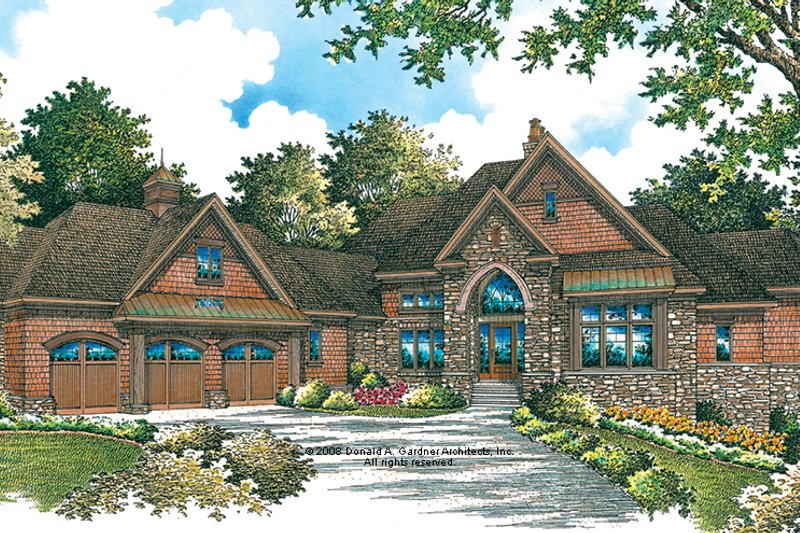 European Exterior - Front Elevation Plan #929-896 - Houseplans.com