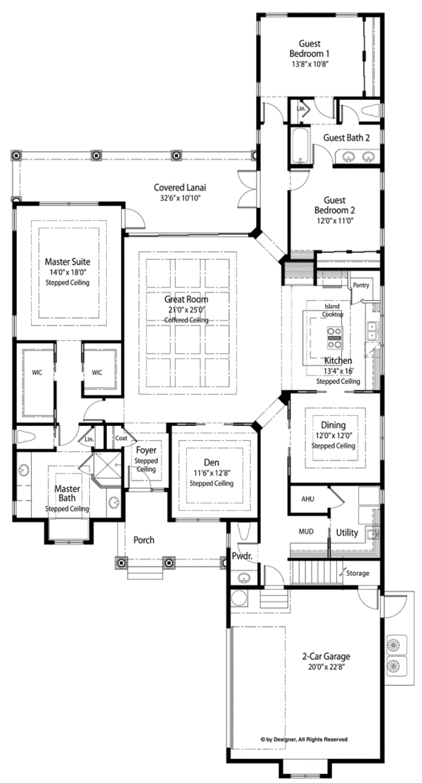 Country Floor Plan - Main Floor Plan Plan #938-77