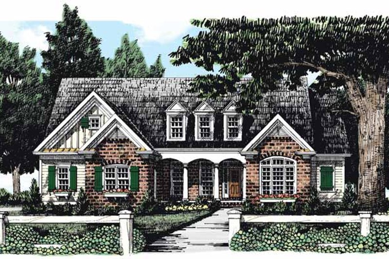 Country Exterior - Front Elevation Plan #927-283