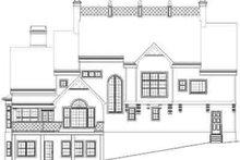 Architectural House Design - European Exterior - Rear Elevation Plan #119-136