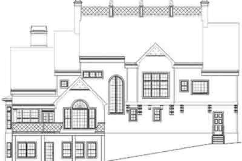 European Exterior - Rear Elevation Plan #119-136 - Houseplans.com