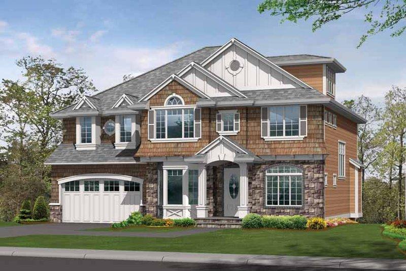 Dream House Plan - Craftsman Exterior - Front Elevation Plan #132-433