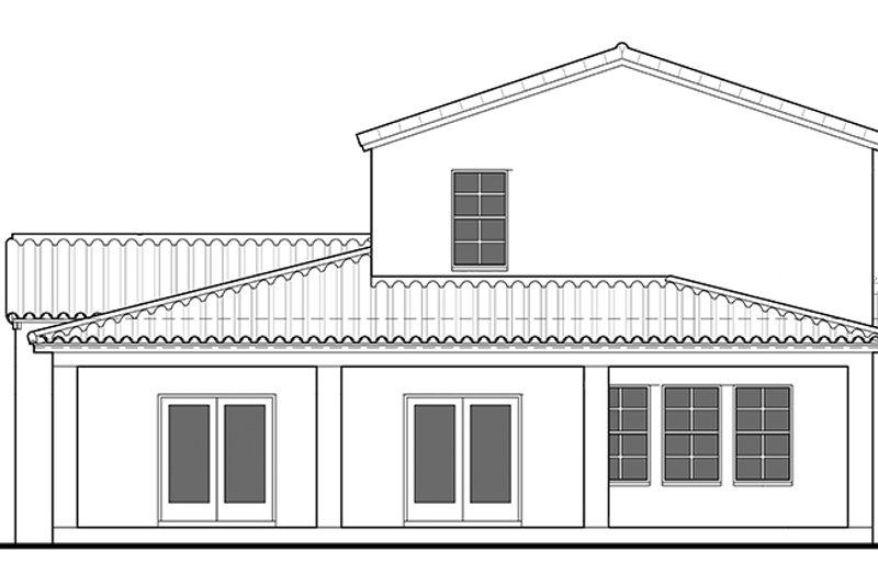 Mediterranean Exterior - Rear Elevation Plan #1058-78 - Houseplans.com